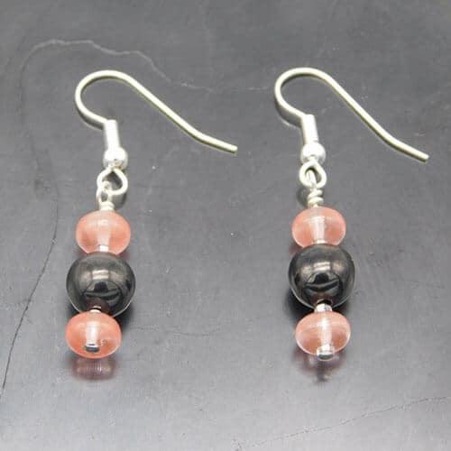 shungite-and-double-rose-quartz-earrings