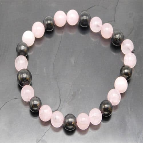 shungite-and-rose-quartz-bracelet