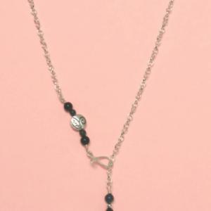 Shungite Swirl Bead & Azurite/Malachite Necklace