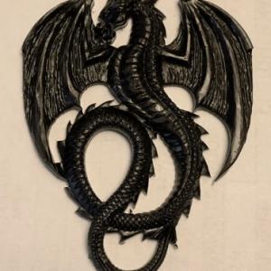 Shungite S4 Resin Dragon Casting